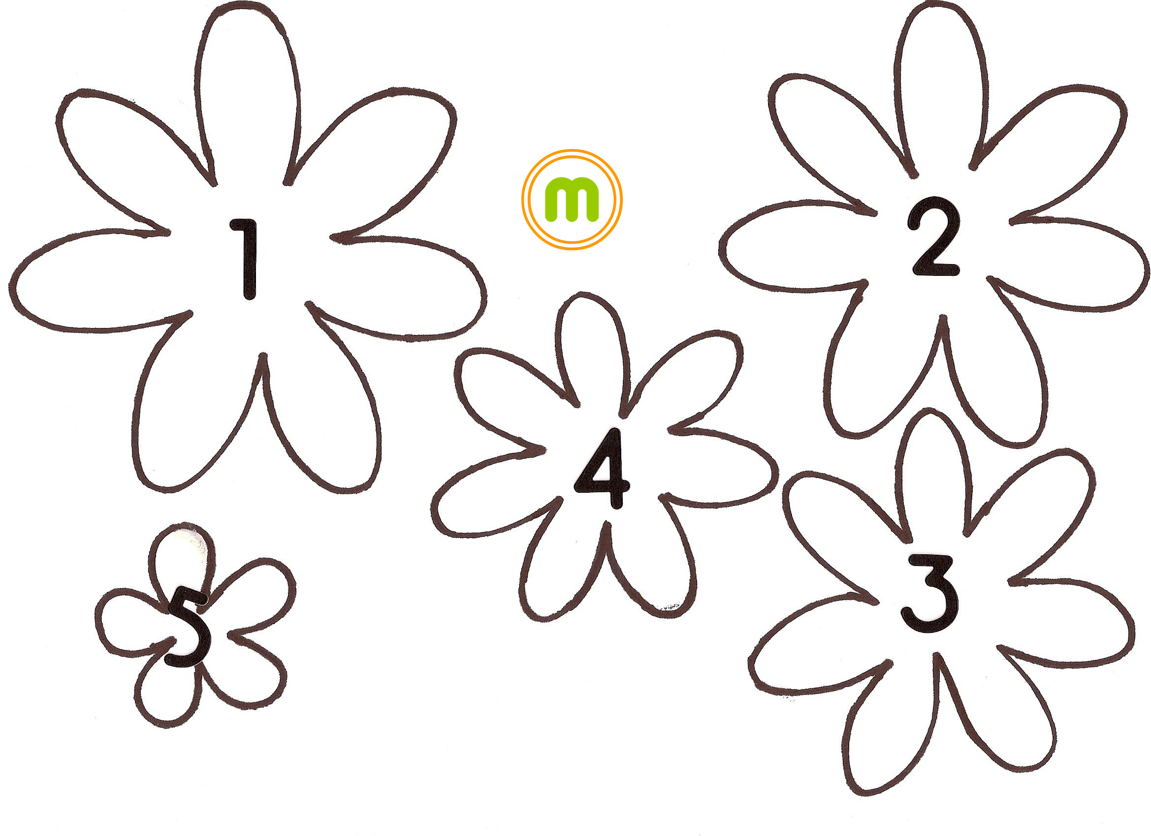Цветы на стену своими руками трафарет из бумаги